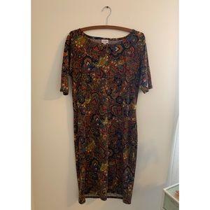 Soft & vibrant paisley print dress by LuLaroe
